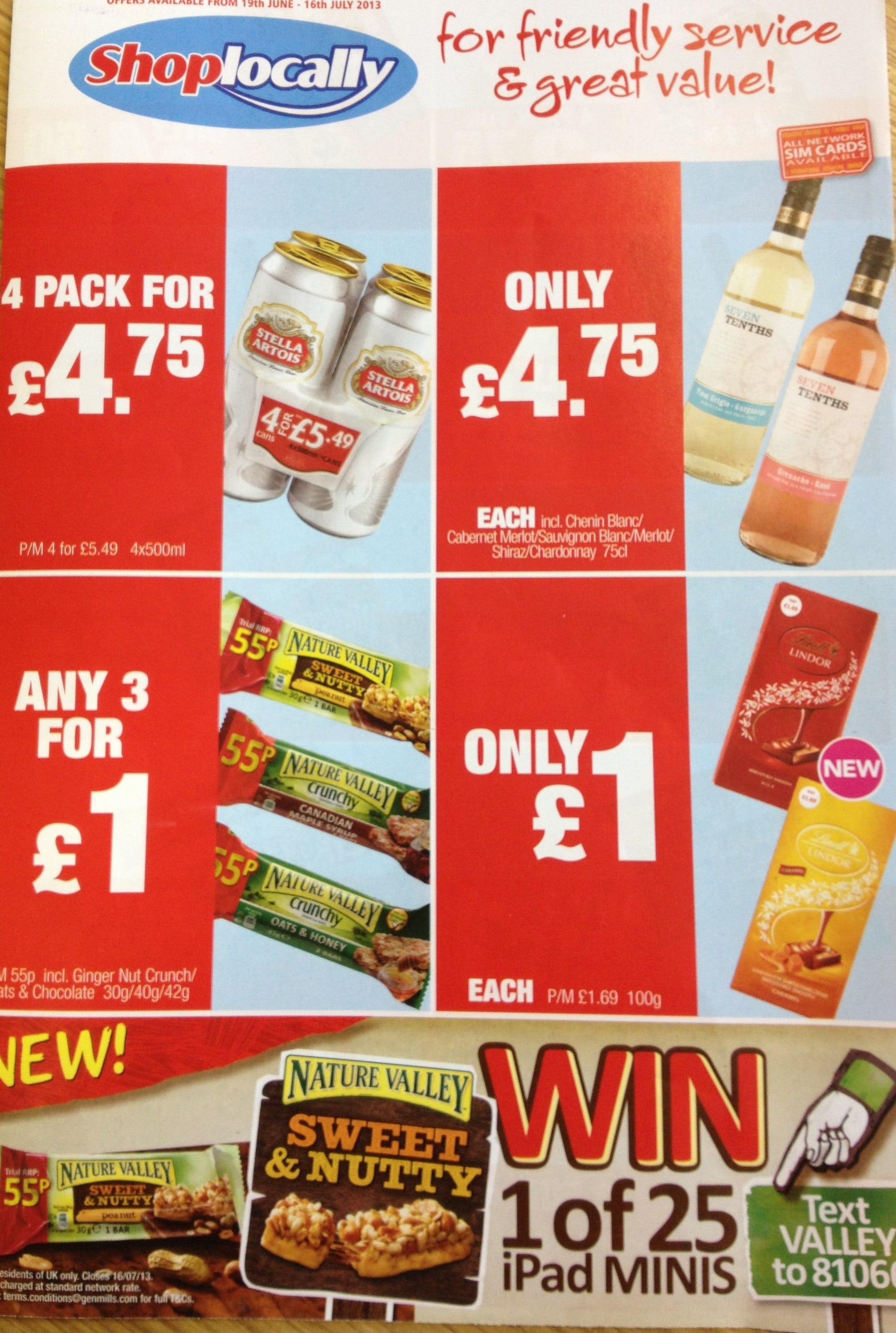 Offers 19th June – 16th July